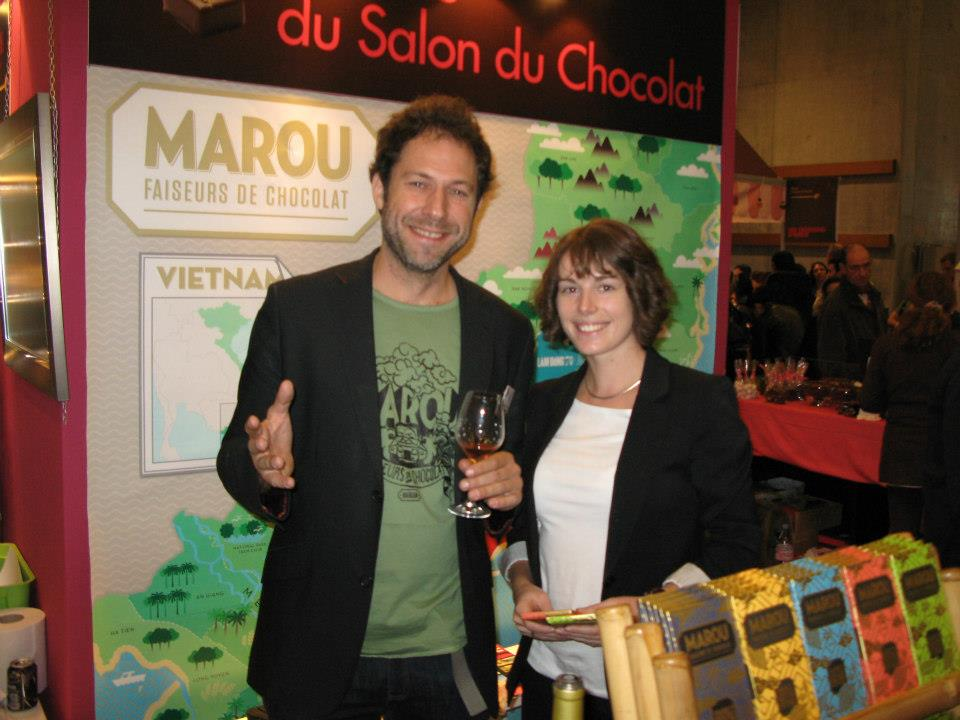 Vincent & moi au Salon du Chocolat de Paris 2012.