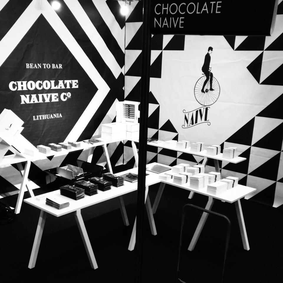 Stand Naive au Salon du Chocolat de Paris (2014)