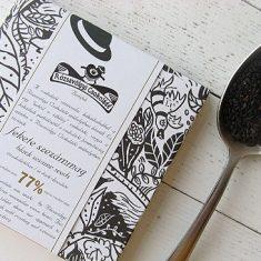 Chocolat Noir Rózsavölgyi - Sésame Noir 77% de Cacao