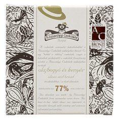 Chocolat Noir Rózsavölgyi - Olives et Pain 77%