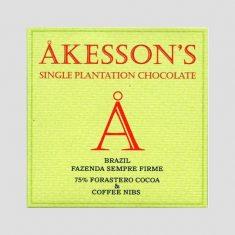 Chocolat Akesson's - Brésil Café 75%