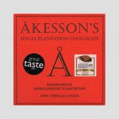 Chocolat Noir Akesson's - Madagascar 100% Cacao
