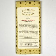 Chocolat Noir Dandelion - Guatemala 70% de Cacao
