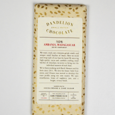 Chocolat Noir Dandelion - Madagascar 70%