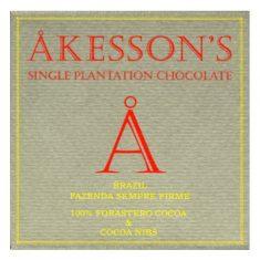 Chocolat Noir Akesson's - Brésil 100% Eclats de Fèves