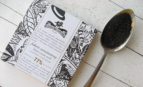 Chocolat Noir Rózsavölgyi – Sésame Noir 77% de Cacao