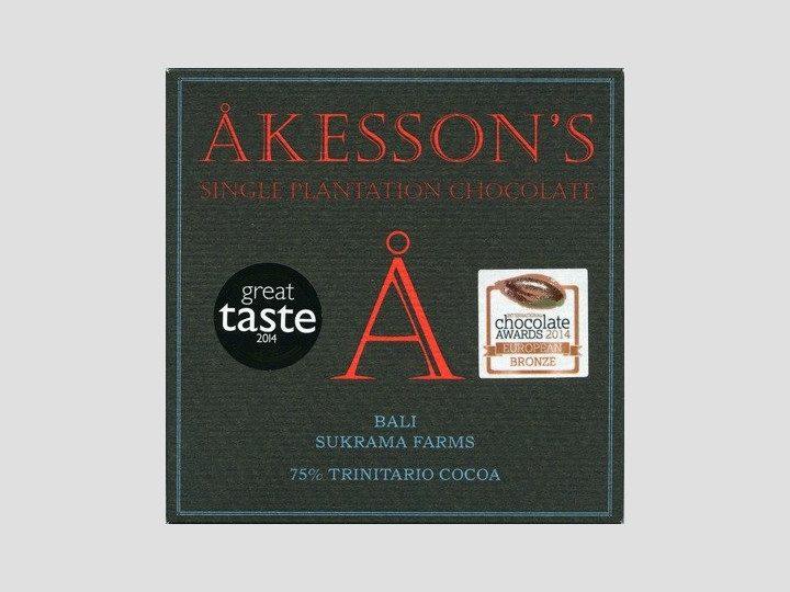 Chocolat Noir Akesson's – Bali Sukrama 75% de Cacao