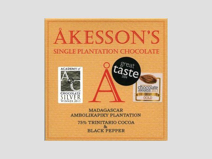 Chocolat Noir Akesson's – Poivre Noir 75% de Cacao