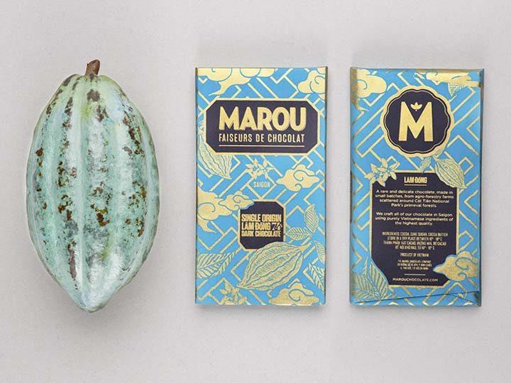 Chocolat Noir Marou – Lam Dong 74% de Cacao