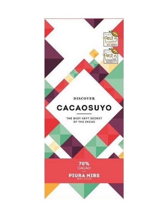 Chocolat Noir Cacaosuyo – Piura Nibs 70% de Cacao