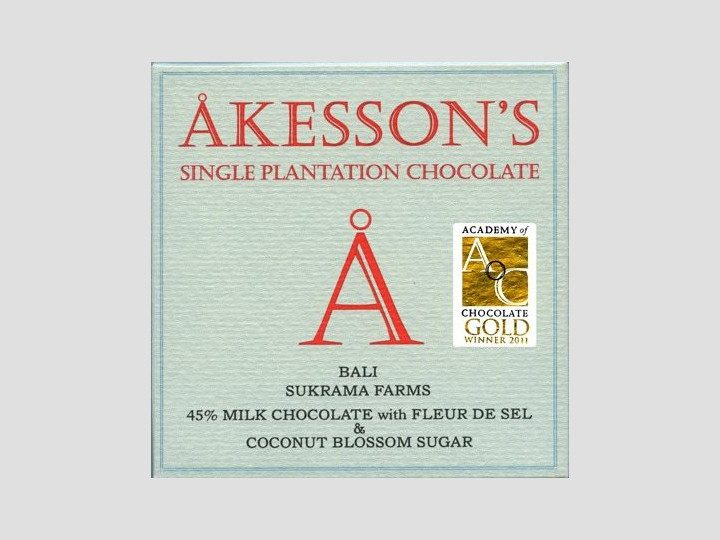 Chocolat au Lait Akesson's – Fleur de Sel 45% de Cacao