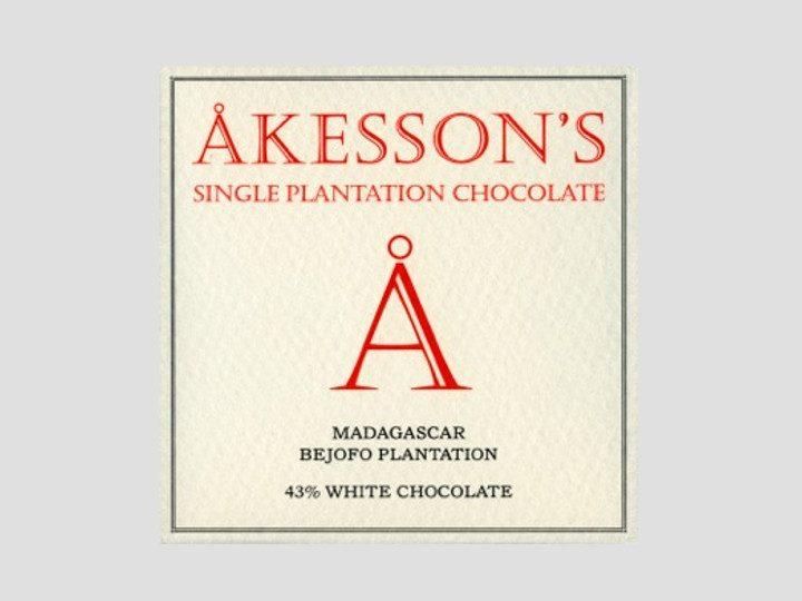 Chocolat Blanc Akesson's – Madagascar 43% de Cacao